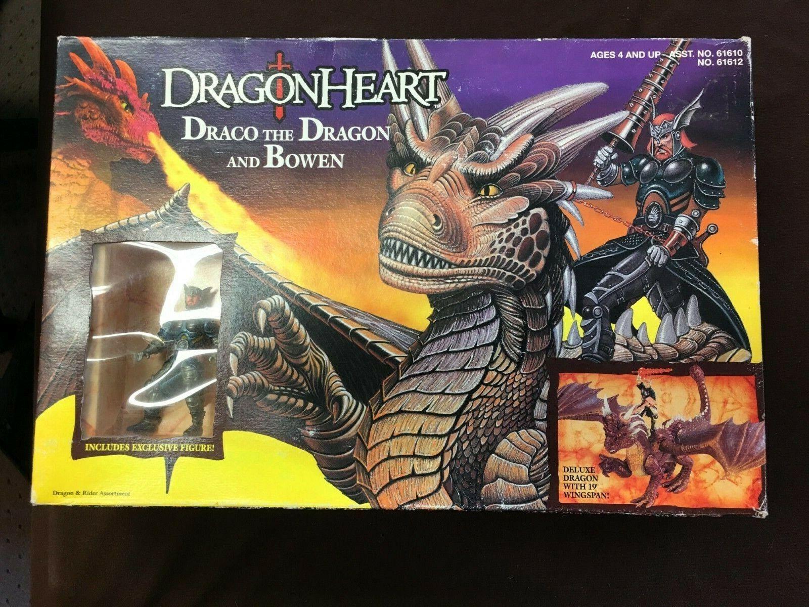 Dragonheart Dragón Corazón Draco el Dragón y Bowen en perfecto estado en Cochetón sellado MIB MOC 100