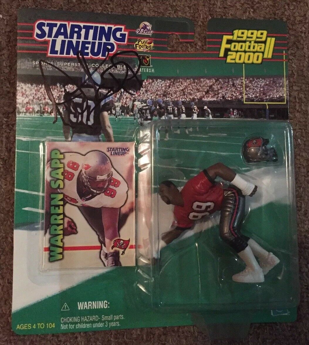 Warren Sapp Signed  Autographed 1999-2000 Starting Lineup... Buccaneers