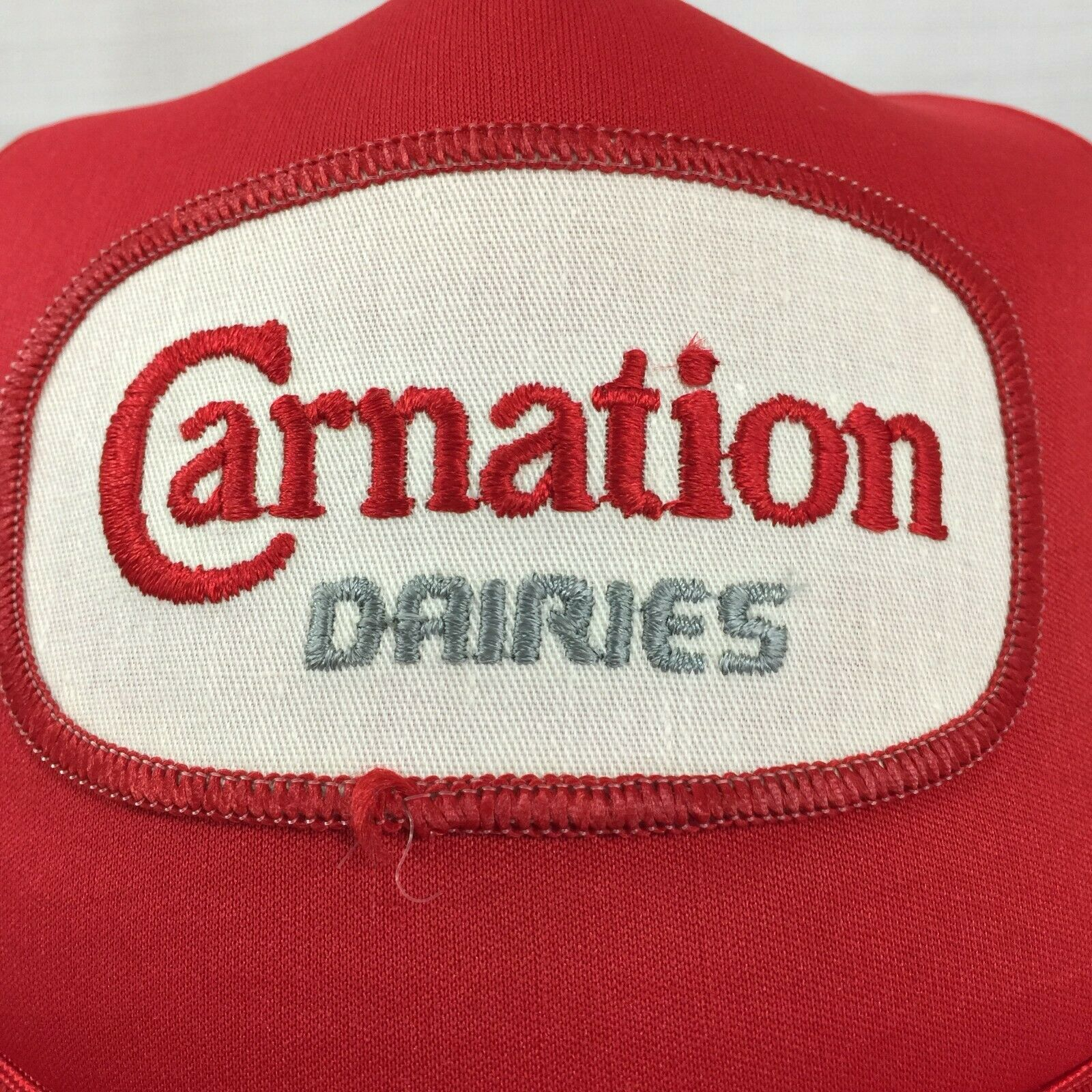 Red Carnation Dairies Snapback Trucker Hat Cap Lo… - image 3