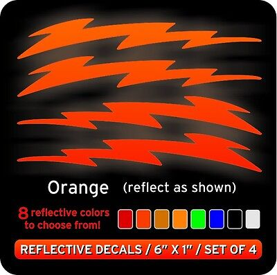 Lightning Bolts Reflective Decals Stickers Orange Ebay