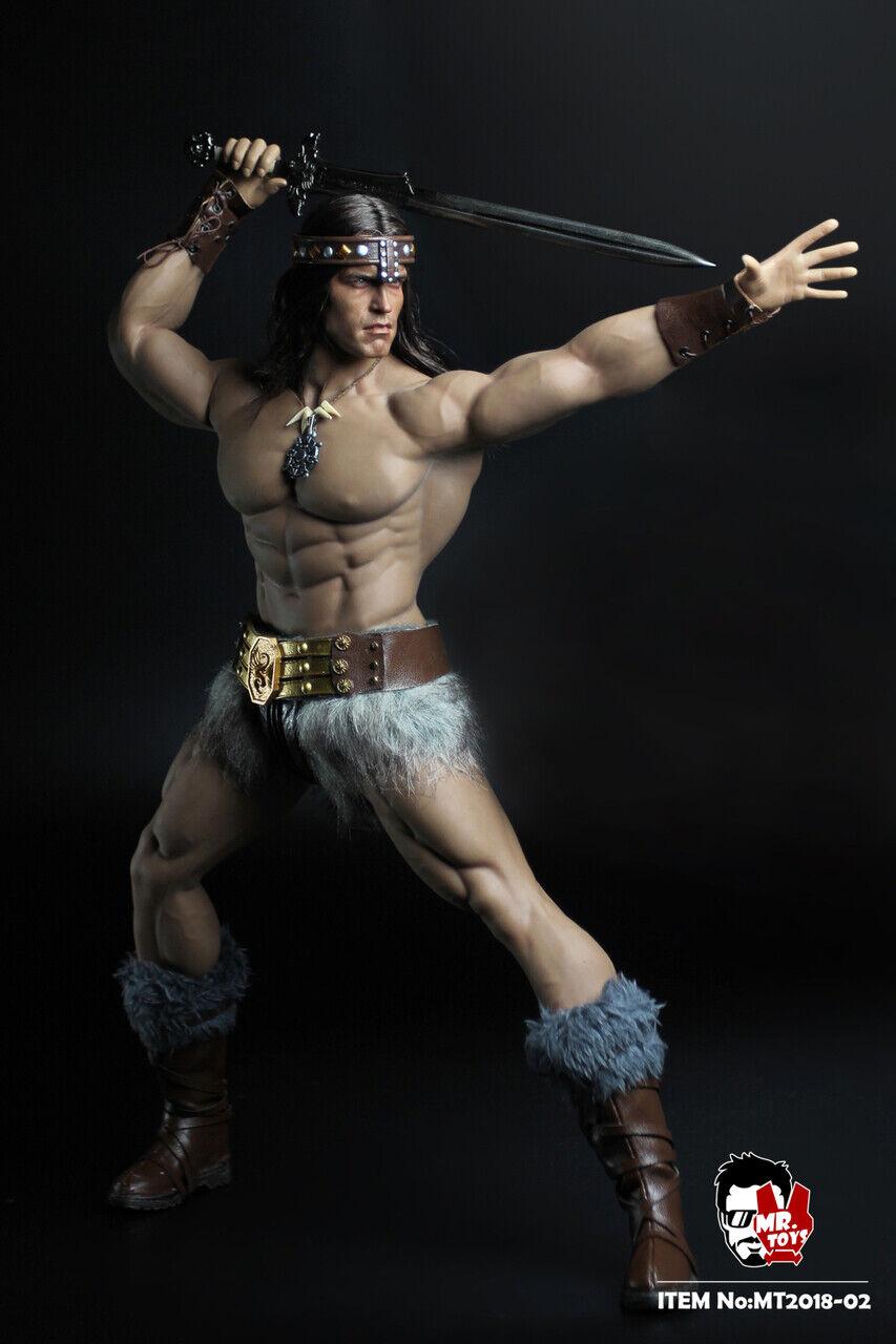 Bárbaro Conan headsculpt 1 6 Escala Figura Accesorio por Sr. Juguetes MT02A-IN Stock