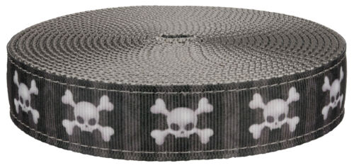 5 Yards Country Brook Design® 1 Inch Nytemare Ribbon on Silver Nylon Webbing