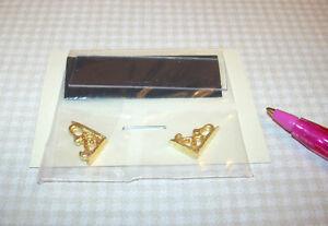 Miniature-2-034-Acrylic-Display-Shelf-Short-w-Gold-Plated-Brackets-DOLLHOUSE-1-12