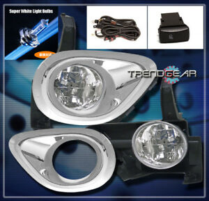 1 Pair Fog Light Lamp Bezel Trim Cover Rings for Honda CRV 2005-2006