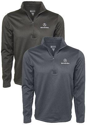 Mercedes Benz Men's 100% Polyester1/4 Zip Fleece Pullover avail  BLACK or GRAY