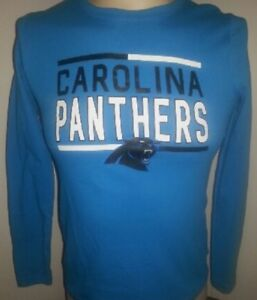 CAROLINA PANTHERS Kids TEE Large (L) (14 16) Long Sleeve New with ... fba1dd900