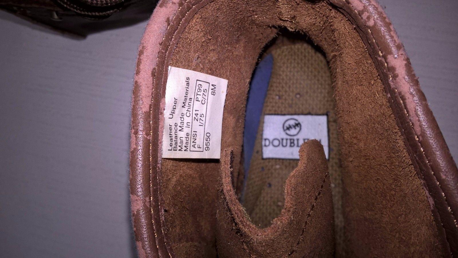 Double HH Puntera De Acero botas Acordonadas Acordonadas botas Mujeres Marrón, 8M ecf55d