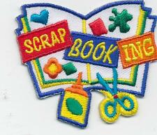 Girl scrap book SCRAPBOOKING project album Fun Patches Crests Badges SCOUT GUIDE