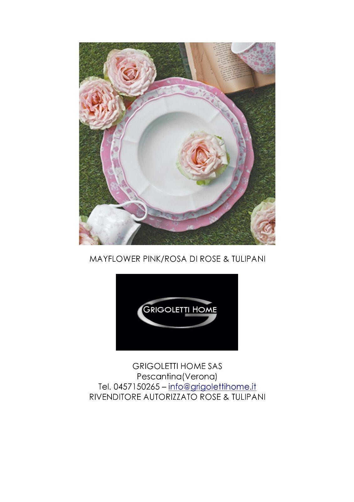 Rose et Tulipes - Service Flat 38 Pièces 12 Pers Mayflower Rose - Revendeur