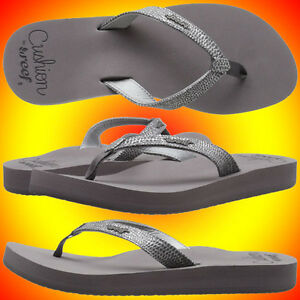 4136ab76c341b Image is loading NEW-REEF-1384-STAR-CUSHION-SASSY-Sandals-GUNMETAL-