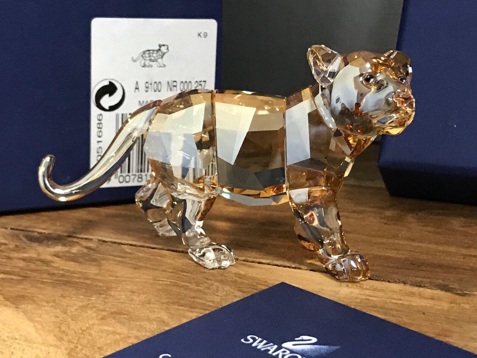 Swarovski Figur ScS junger Tiger 2010. Mit Ovp & Zertifikat. Top Zustand
