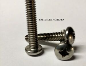 "Pan Head Phillips Machine Screws Stainless Steel #10-32 x 3/4"" Qty-100"