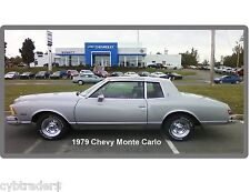 1979 Chevrolet Monte Carlo  Silver #2  Refrigerator / Tool Box Magnet Man Cave