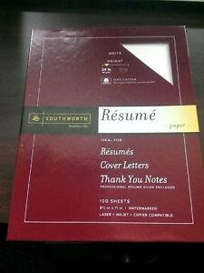 Southworth Resume Paper Cotton Fiber 24 Lb 8 1 2 X 11