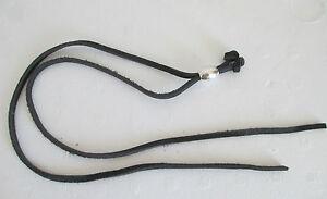 """Genuine Leather Black Draw String Cowboy Hat Stampede Strings 20"""""""