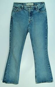 BUTTON-FLY-Mid-Rise-Flare-AMERICAN-EAGLE-OUTFITTERS-100-Cotton-Jeans-6-Reg