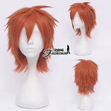 Popular Akashi Seijuro Red 30CM Layared Fashion Anime Cosplay Wig+Free Wig Cap