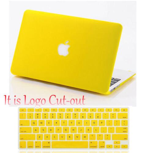 Keypad Cover Rubberized Logo Cutout Hard Shell Case For Macbook Pro 13 15 Retina