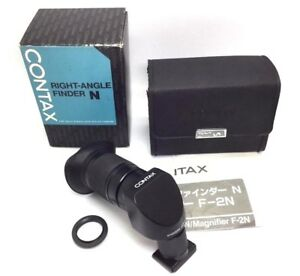 Mint-in-Box-Contax-Right-angle-Finder-N-Magnifier-F-2N-w-Eye-piece-adapter