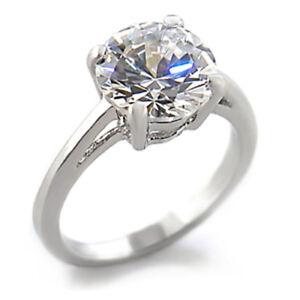 Details Sur Bague Luxe Argent Rhodie Femme Mode Serti Zirconium Diamant Mariage Solitaire