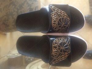 e7f140e97 Nike Jordan Hydro 7 Sandals Black Metallic Gold AA2517-021 Men s ...