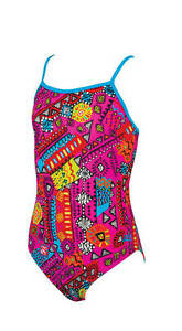 fe0509028b5c9 Image is loading Zoggs-Girls-Tribal-Art-Yaroomba-Swimwsuit-Cut-Out-