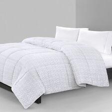 N NATORI KING Geo Print MICRO FIBER Down Alternative Comforter WHITE/Grey