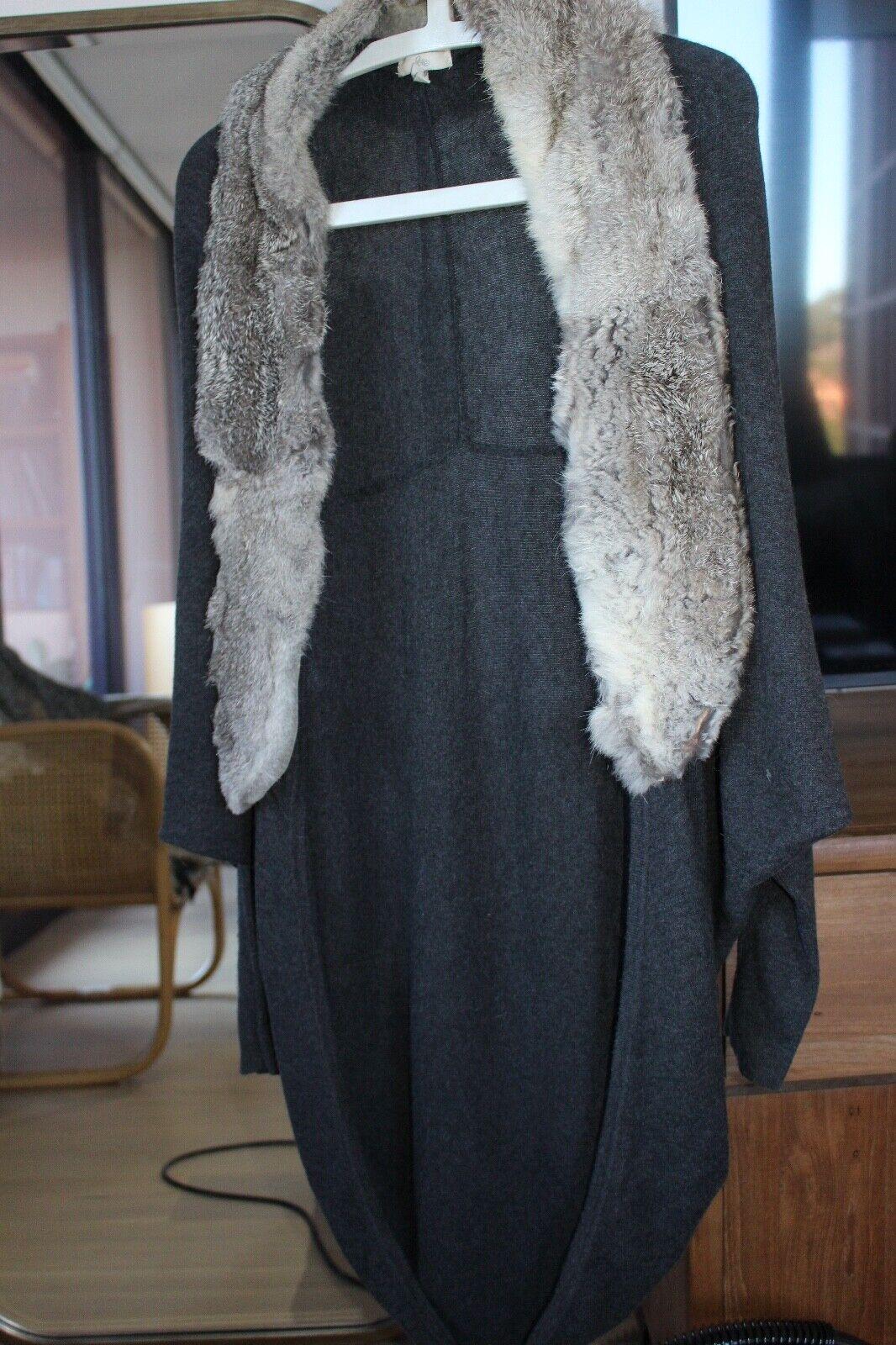 Joie cocoon Wolle cardigan with rabbit fur trim Größe XS