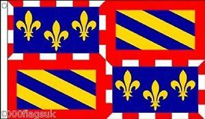 France Burgundy Region 5'x3' Flag