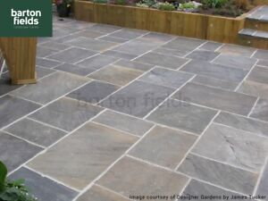 Natural Stone Patio Paving Galaxy Colour Mixed Size Pack Ebay