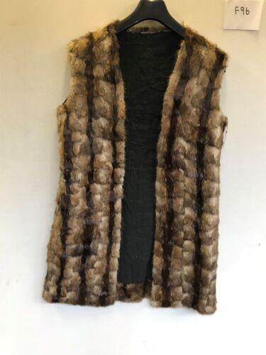 ascella pelliccia da 40 Cappotto marrone donna 21 f96 in d'epoca ascella di Length w1qx5xt0H6
