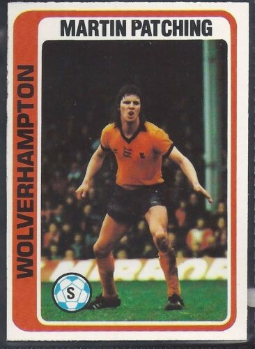 PALE BLUE BACK 1979 MARTIN PATCHING TOPPS-FOOTBALL -#252- WOLVES