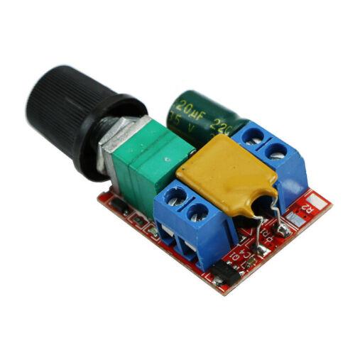 Mini DC 3V-35V 5 A Motor Controlador de Velocidad PWM Velocidad Control Interruptor LED Dimmer UK