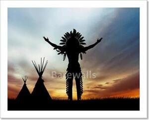 Details About Native American Indian Art Print Home Decor Wall Poster D