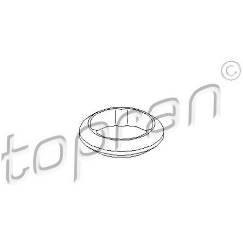 TOPRAN Dichtung, Abgasrohr - 107 215 - Audi 80,A4. Seat Ibiza. VW Golf 3,Polo