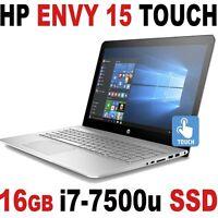 2017 16gb 1tb Ssd 7th Gen I7-7500u Hp Envy 15 Fhd Touch B & O Laptop Bt