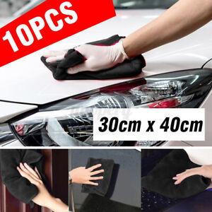 10-Pcs-Car-Cleaning-Detailing-Microfiber-Soft-Polish-Cloths-Towels-30cm-x