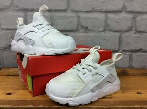 NIKE-UK-7-5-EU-25-WHITE-HUARACHE-RUN-TRAINERS-GIRLS-BOYS-CHILDRENS-TODDLER-LG