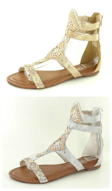 f0769- damen-savanne Farben- Riemen Gladiator stil-sandalen 2 Farben- damen-savanne Gold & Silber 985006