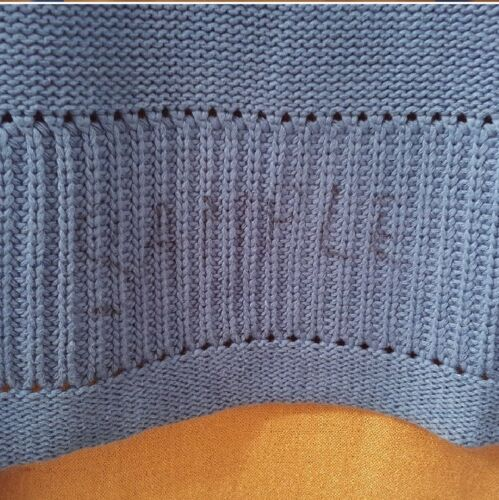 Square Buttons S Med Gorgeous Blå Tan Cardigan Nybased m Eller Sweater UYWWBq