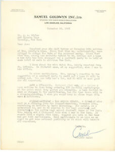 CHRISTY-WALSH-1941-TLS-letter-about-GEHRIG-during-casting-PRIDE-OF-THE-YANKEES
