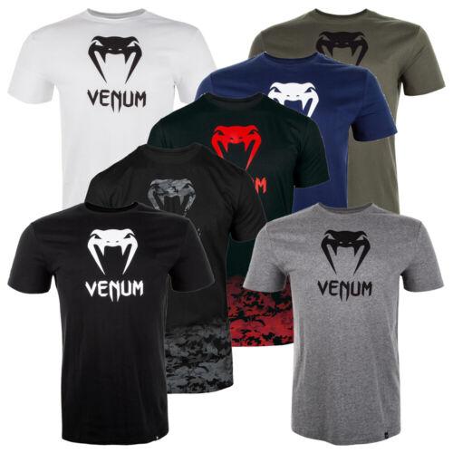 Venum Herren T-Shirt Classic Schwarz Grau Weiß Khaki Baumwolle MMA Muay Thai