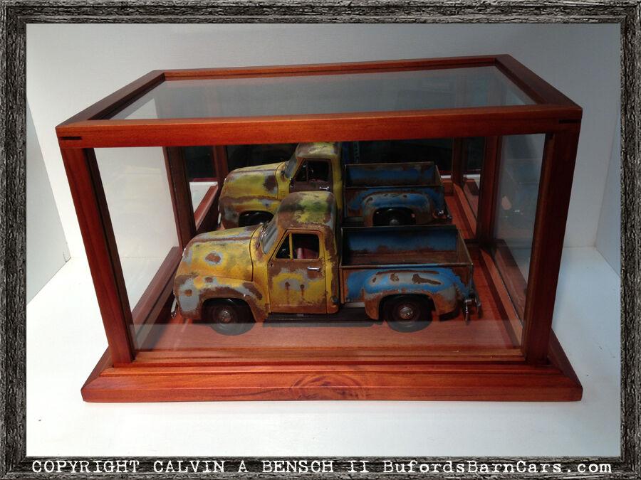 Magnifiquement conçu Handmade miroir vitrine pour 1 12 par 1 18 Modèles