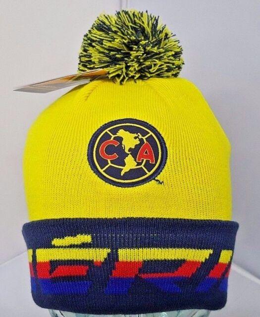 35a62a145db Club America FC Cuffed Beanie Winter Hat Cap With Pom Pom New W Tags OSFM