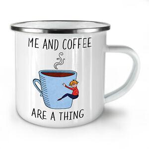 Me Coffee Thing NEW Enamel Tea Mug 10 oz | Wellcoda