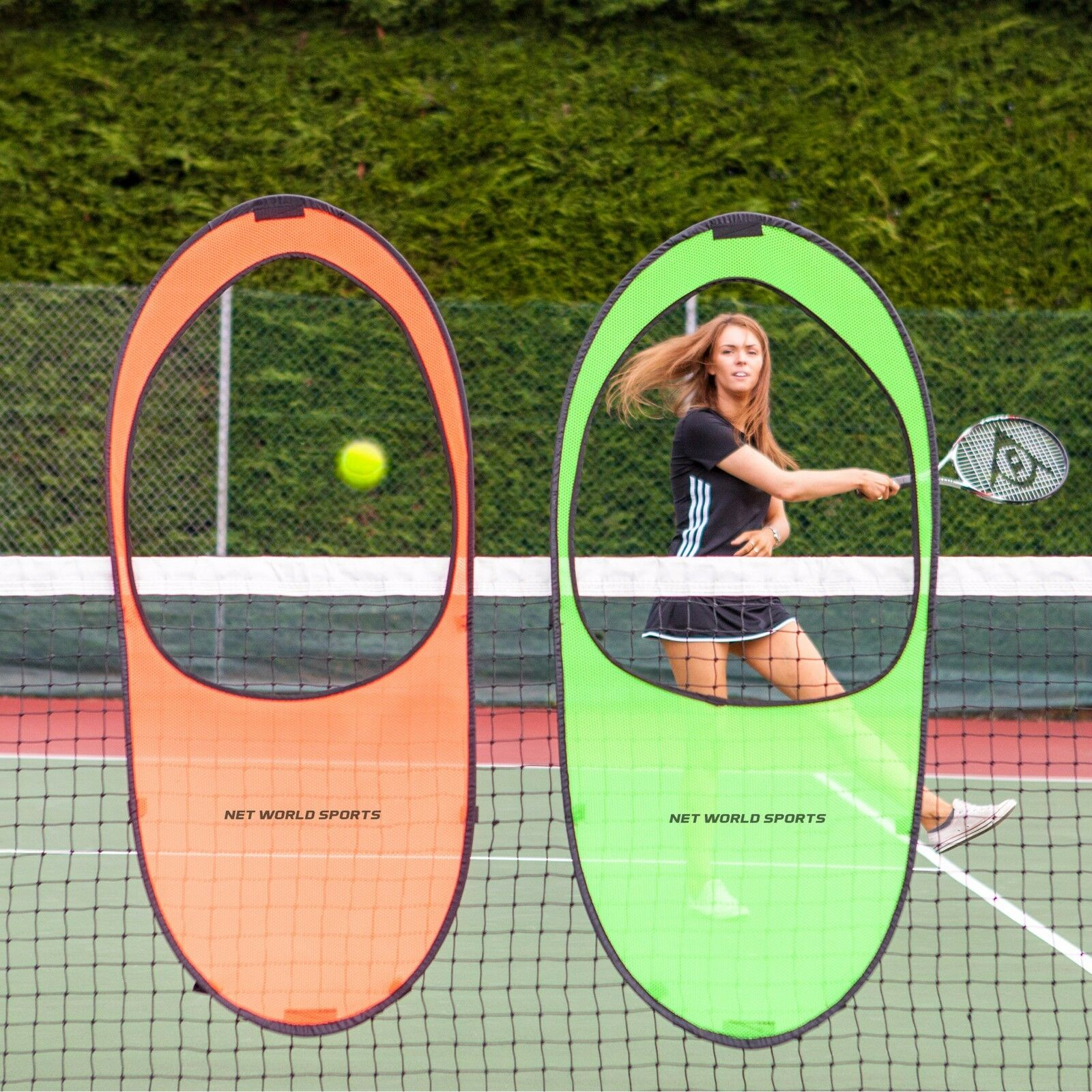 Portable Tennis Net Targets - Tennis Groundstroke Accuracy Training Target