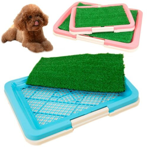 2Size Puppy Potty Trainer Indoor Training Toilet Pet Dog Grass Pad Pee New Style