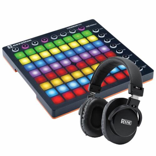 Novation Launchpad MKii 64 Pad Midi Controller w// Rane RH-1 Studio Headphones