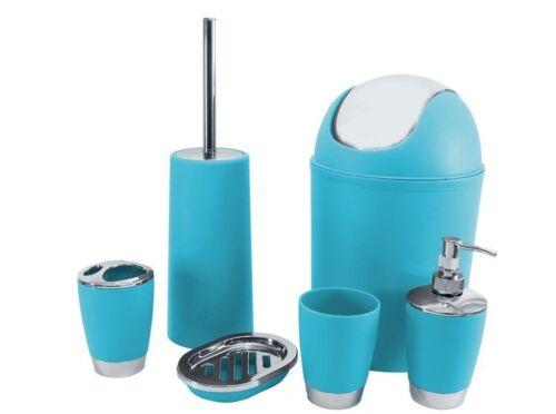 Ensemble de salle de bain bleu Accessoire Bin Porte-savon Distributeur Culbuteur Porte-brosse à dents
