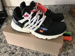 5cdde64fcfc6 Nike Air Presto Off-White Size 12 The Ten 8191115816296
